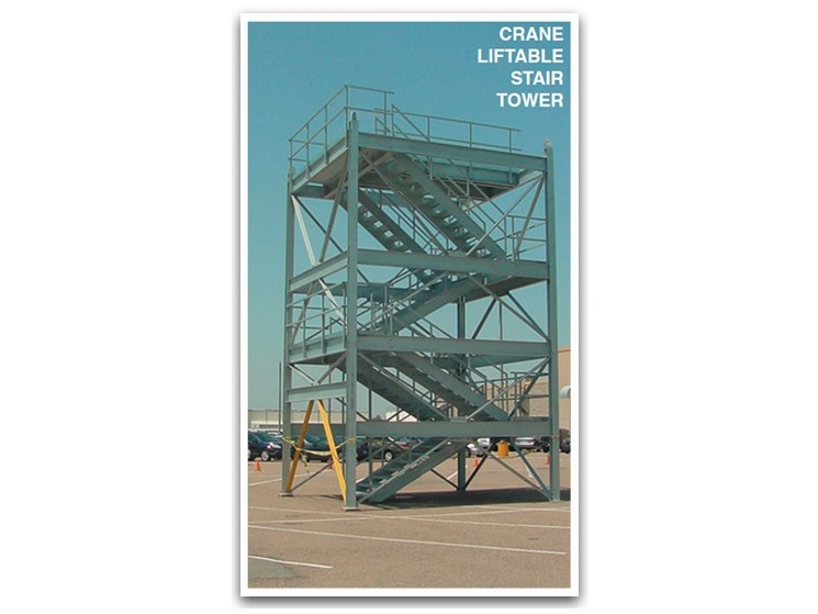 Crane Liftable Steel Stair Tower