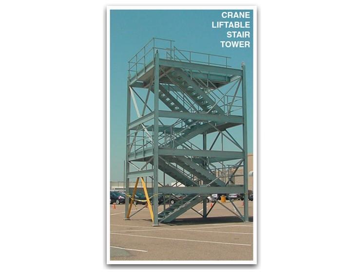 Crane Liftable Steel Stair Tower