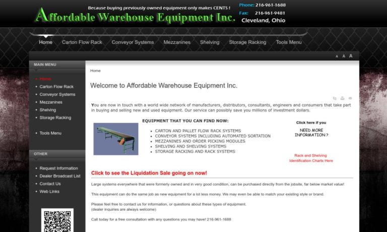 Affordable Warehouse Equipment, Inc.